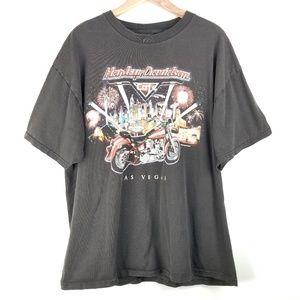 HARLEY DAVIDSON Cafe 2001 Las Vegas BlackTee Shirt